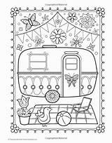 Camper Coloring Trailer Wheel Printable 5th Getdrawings Getcolorings Popular sketch template