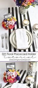 DIY Floral Placecard Holders - Blooming Homestead