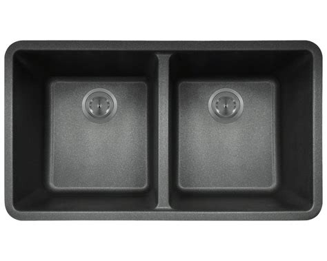 black ceramic undermount kitchen sinks 802 black equal bowl trugranite kitchen sink 7867