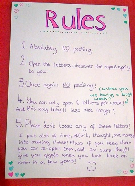 rules    put   open  letter