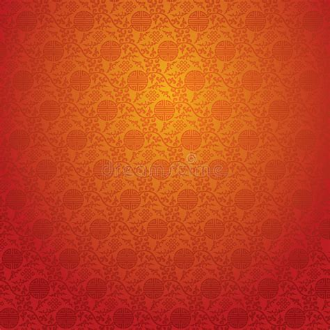 red chinese wallpaper stock vector illustration  exotic