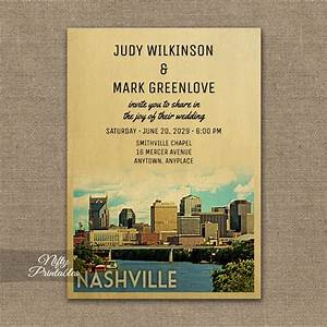 nashville tennessee wedding invitation printed nifty With wedding invitations nashville tn