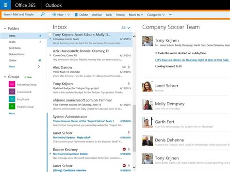 Office 365 Outlook New Features by Web Version Of Outlook For Office 365 Business Users Gets