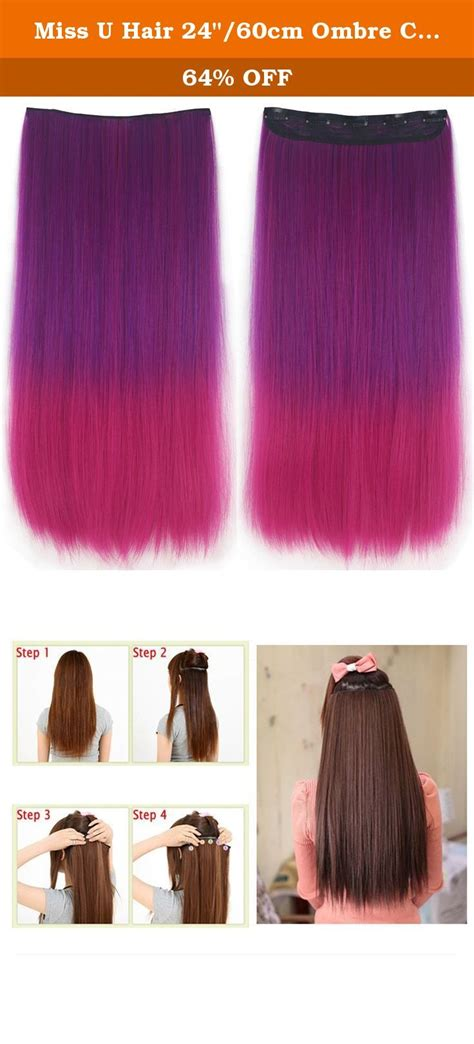 Miss U Hair 2460cm Ombre Colors Synthetic Long Straight