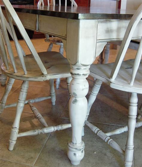 refinish kitchen table and chairs diy