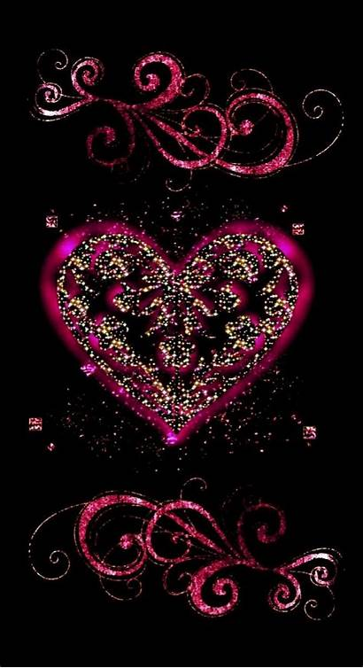 Phone Heart Paper Wallpapers Hearts Iphone Glitter