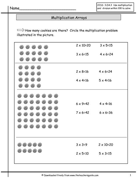 multiplication array lessons 3rd grade primary punch