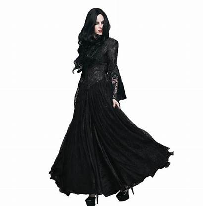 Peplum Gothic Zipper Sleeves Split Lace Gown