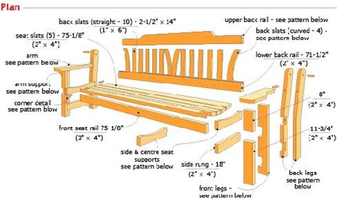 free garden bench woodworking plans pdf how to