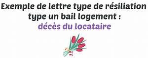 Lettre Deces : lettre type de r siliation d 39 un bail logement en cas de d c s du locataire ~ Gottalentnigeria.com Avis de Voitures