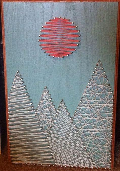 mountains string art    wall pinterest