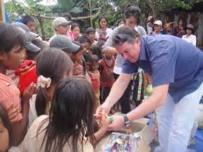 Poor People Giving Food