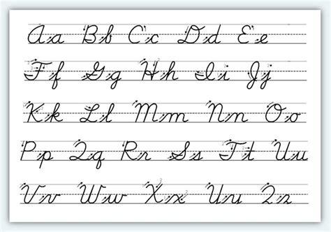 cursive letters az 2 free printable cursive alphabet worksheets 1 classroom 10336