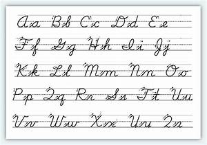 free printable cursive alphabet worksheets 1 classroom With learn to write script letters