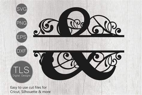split monogram letter svg ampersand monogram svg  cut files design bundles