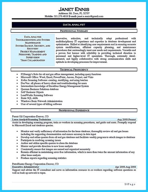 Make the use of strong action verbs to describe professional experiences. High Quality Data Analyst Resume Sample from Professionals