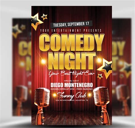 Show Template by Comedy Flyer Template Flyerheroes