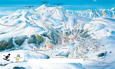 plan des pistes 224 besse plan des pistes au mont dore les pistes de ski du mont dore