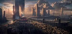 HD Future Cityscape Wallpaper - WallpaperSafari