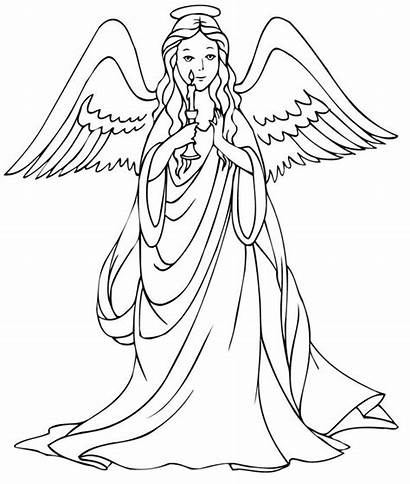 Coloring Pages Angels Angel Printable Christmas Adults