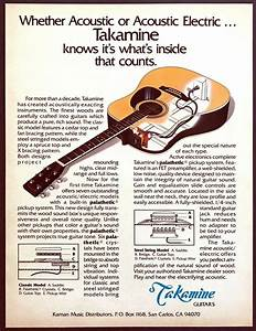 1981 Takamine Acoustic Electric Guitar Diagram  U0026quot Inside