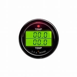Spa Digital Dual Temperature Gauge From Merlin Motorsport