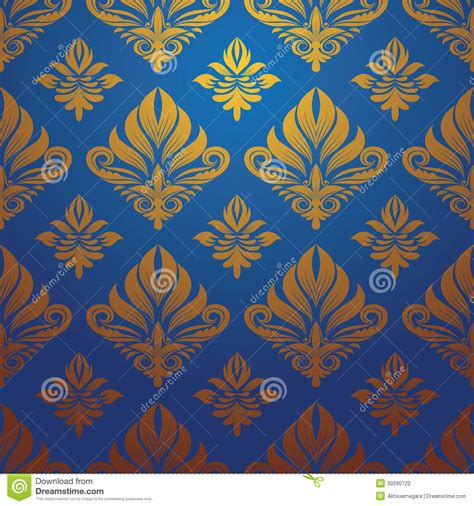 gold blue pattern vector stock photography image