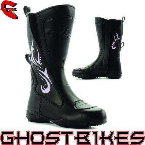 waterproof leather motorcycle boots blytz ladies waterproof leather motorbike womens