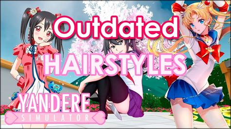 hairstyles references animegaming yandere simulator youtube