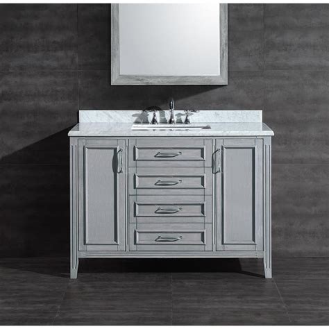 bathroom vanity grey shop ove decors daniel grey undermount single sink