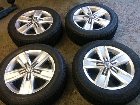 set of 4 x genuine vw t6 alloy wheels and goodyear tyres stourbridge sandwell