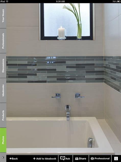 white  glass tile border bathroom upgrades bathroom