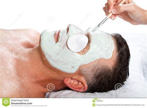 Man With Facial Mask Royalty Free Stock Photography