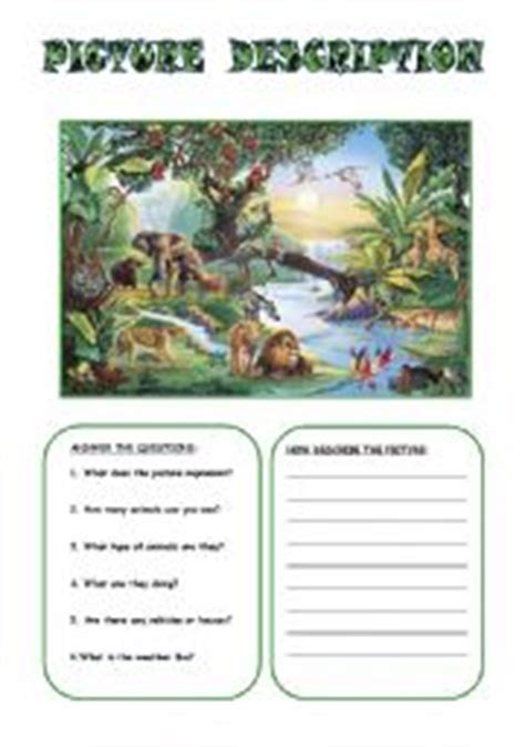 picture description worksheets