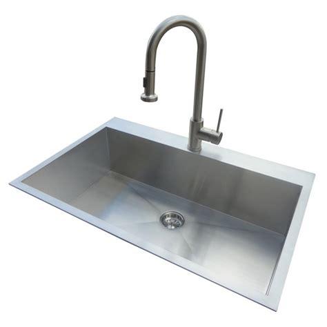 standard kitchen sink faucets shop standard 20 single basin drop in or
