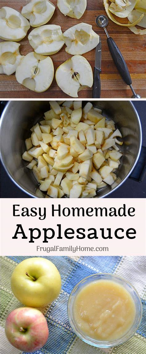 how to cook with applesauce how to make homemade applesauce easy recipe frugal family home