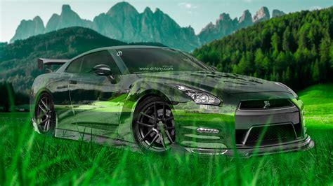 Nissan Gtr Wallpaper Green by Nissan Gtr R35 Jdm 3d Nature Car 2015 Green