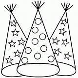 Coloring Hat Template Hats Printable Birthday Ausmalbilder Hut Printables Czapki Clipart Kolorowanki Sheets Dzieci Dla Firefighter Malvorlagen Adult Popular Panda sketch template