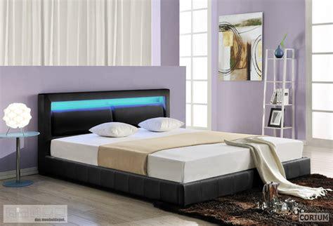 Design Lederbett Mit Led Beleuchtung Polsterbett Bett