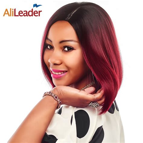 Alileader 14 Short Synthetic Wigs For Women Ombre