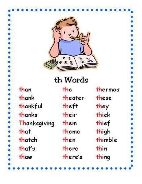 words printables template  words phonics words