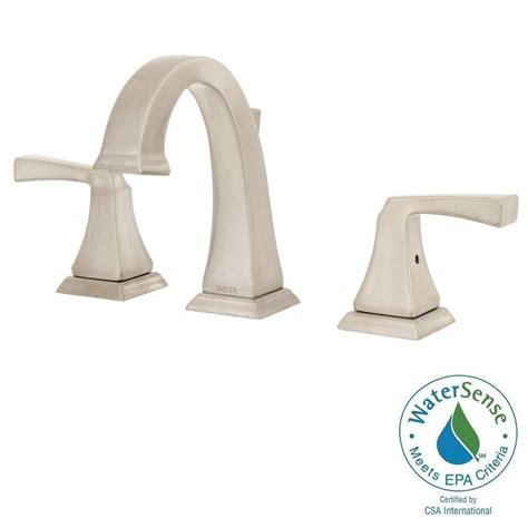 delta dryden faucet stainless delta dryden 8 in widespread 2 handle bathroom faucet