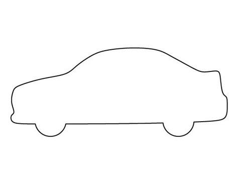 car pattern   printable outline  crafts