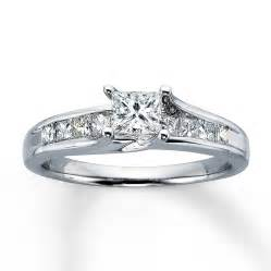 2 ct princess cut engagement rings engagement ring 1 ct tw princess cut 14k white gold