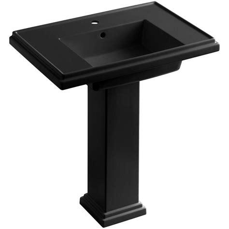 single pedestal sink kohler tresham ceramic pedestal combo bathroom sink with