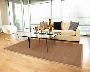 Le tapis jonc de mer pour le salon classique en 60 belles for Tapis jonc de mer avec fabriquer son canapé convertible