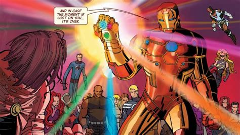 marvel characters whove wielded  infinity gauntlet