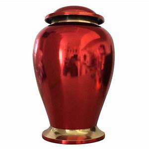"Reading Ruby Red 7"" Inches Funeral Urn for Human Ashes"