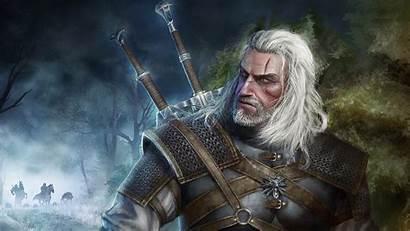 Geralt Witcher Rivia Wallpapers Background Hunt Wild