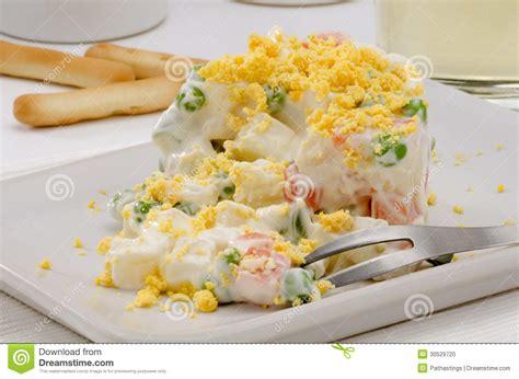 cuisine salade cuisine salad ensaladilla rusa stock